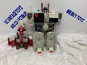 Metroplex RT & Computron Scattershot 1985 Vintage Hasbro G1 Transformers
