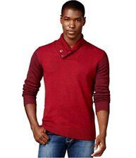 Sean John Colorblock Twist Shawl Sweater Windsorwine Mens Size 3XL New