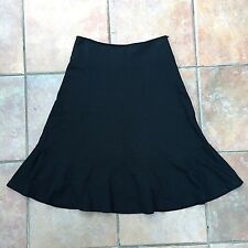 PHASE EIGHT Black Smart Work Office Occasion Flared A-line Skirt Size 8