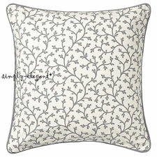 "LUNGÖRT Cushion Cover 20 x 20"" Decorative Pillow Cover Gray White Floral stripe"