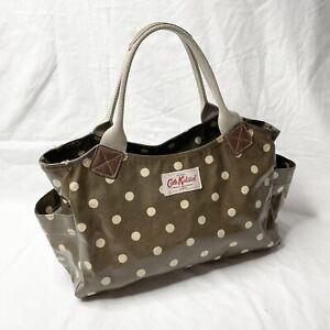 Cath Kidston Handbag Bag Green White Polka Dot Original London