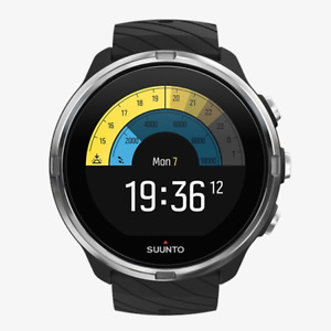 SUUNTO 9 Black Strapazierfähige Multisport-GPS-Uhr Fitness Watch Wearable Qj