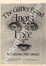 Glitter Band The Angel Face BELL 1348 MM4 '45 Advert 1974