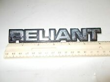 "1981 1982 1983 1984 PLYMOUTH ""RELIANT"" TRUNK EMBLEM USED OEM 4229392"