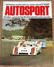 Autosport 31/8/72* ROTHMANS 50,000 BRANDS HATCH - BMW 3.0 CS POSTER -L&M PORSCHE