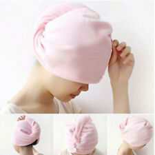 100% Cotton After Shower Hair Drying Wrap Towel Quick Dry Hair Hat Cap Turban UK