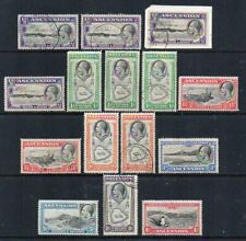 Ascension Island: 1934 KGV vals group to 1/- (15) ex SG 21-28 mint/used