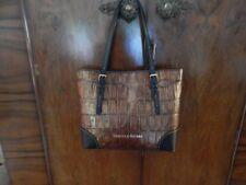 NEW Dooney & Bourke Cognac Rachel Tote Embossed Croco Croc Pattern NWT