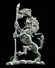 Scottish Lion Rampant Brooch Holding Saltire, John Hart IONA, Edinburgh 1965