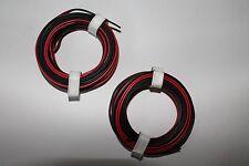 Modellbahn Zwillingslitze, 0,14; 5 m Ring; rot/schwarz; 2 Stück; neu