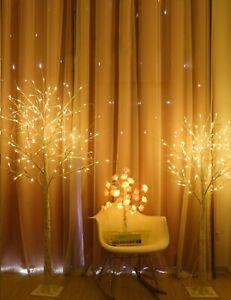 Maity LED Lichterbaum Warm Weiß LEDs in elegantes Birkenmuster Leuchtbaum Dekor
