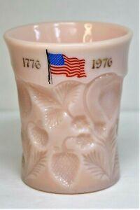 Vintage 1776- 1976 Bicentennial Near Cut Pink Shell Strawberry Tumbler