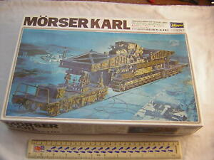 Hasegawa WW2 German Military Morser Karl 600mm Heavy Mortar SPG Scale 1:72 Kit