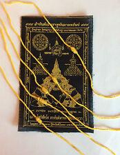 Lot de 5 Bracelet sacré Sai Sin jaune coton et tissu noir Chance Asie Thaïlande