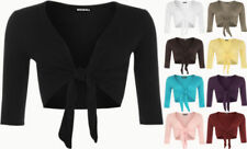 Regular Size Viscose Solid 3/4 Sleeve Tops & Blouses for Women