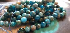 10 perles 8mm apatite naturelle