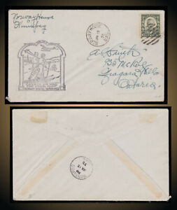 15 JAN 1935 NORWAY HOUSE TO WINNIPEG  MANITOBA UNOPENED COVER AIR MAIL COVER
