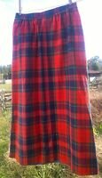Vintage PENDLETON Wool Red Blue Tartan Plaid Skirt Women's Small Made in USA 4