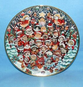 Collector Plate Santa Claws Bill Bell Limited Edition Cats Holiday Christmas