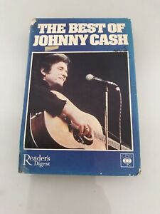 Johnny Cash The Best Of Johnny Cash 4 Cassette Tapes Readers Digest Collection