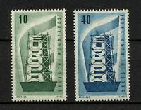 (YYAT 0293) Germany 1956 MNH Mich 241 - 242 Scott 748 - 749 EUROPA