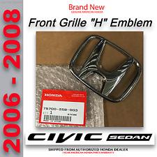Genuine OEM Honda Civic 4Dr Sedan Element Front Grille H Emblem (75700-S5B-003)