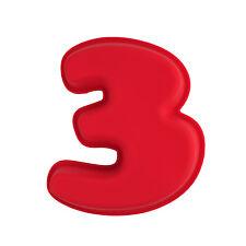 NR 3 X MINI Numeri Stampo In Silicone Torta di Compleanno Bambini Vassoio da forno Sugarcraft