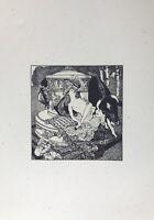 """Erotische Graphik Marquis de Bayros """"Jupiter & Europa"""" 1908 aus Erzählungen am T"""