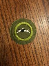 Type F Rolled Edge Khaki Twill Surveying Vintage Boy Scout Merit Badge