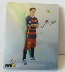 FIFA 16 • Steelbook / Tin • PS4 Game • Lionel Messi 10 • Sony Playstation 4 Rare