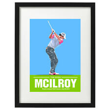 Rory Mcilroy 2014 Open golf art print / poster