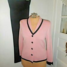 Ladies J.S.S. Pants Suit Size Top-S  Pants-M Pink & Black DESIGNER!!  GORGEOUS!!