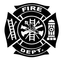 Maltese Cross Fire Firefighter Emblem Logo Truck Van Window Vinyl Decal Sticker