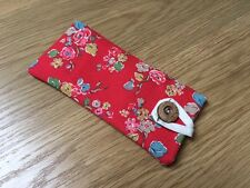 *Fabric Glasses / Sunglasses Case / Pouch -  Handmade Cath Kidston Red Woodland