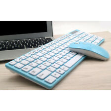 USB Wireless Gaming Keyboard and Mouse Set Combo for PC Laptop Blue 2.4GHz