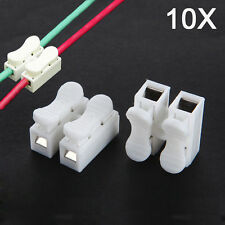 10pcs CH-2 Press Type Electric Connection Quick Wiring Terminal for LED Lighting