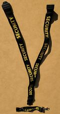 Security Lanyard [ID/Badge Holder] Black / Gold