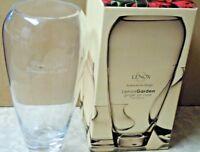 "LENOX GARDEN 11.5"" Crystal Ginger Vase - Made in Poland - IOB"