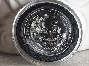 2018 Great Britain 1 oz Platinum Queen's Beast The Red Dragon of Wales