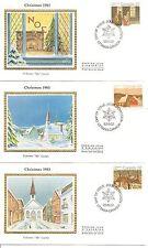 Canada Sc # 1004-1005-1006 Christmas 1983 Fdc. Colorano Silk Cachet