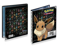 4-Pocket A5 Eevee Evolution Silhouette-Art Pokemon Card Album Portfolio Storage