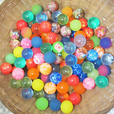 10X Colorful Mini Bouncy Rubber Balls Bath Toys Party Bag Fillers Kids Gift 27mm