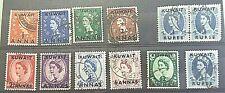 KUWAIT/BRITISH  STAMPS-12-( QE  -OPTD  KUWAIT) --USED/HINGED..