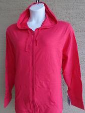 NWT Just My Size Light Weight Slub Clotton Zip Up Hoddie Jacket 2X Spark Red