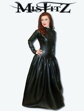 Misfitz black leather look mistress ballgown, sizes 8-32/made to measure goth TV