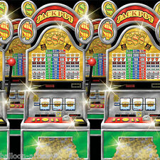 Vegas Casino Party Scene Setter Room Roll Decoration - SLOT MACHINES