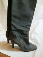 Vintage hight boots 38,5 FR 5,5 UK  grey nubuck leather quality boots