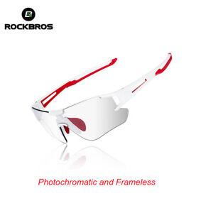 ROCKBROS Cycling Sunglasses Photochromic Bike Sports Goggles UV400 Protection