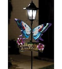 """Solar Butterfly And Welcome Home Sign"" Great Garden Feature Welcomes You Home."