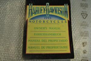 HARLEY DAVIDSON Handbuch Manual 1993 IN 4 Sprachen Code 99963-93 Original